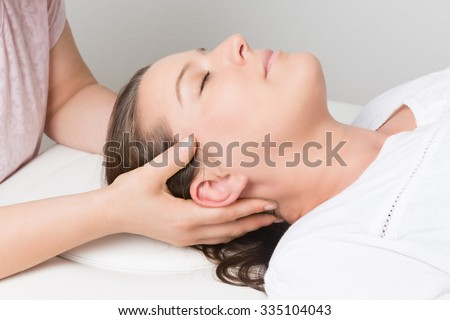 health care and wellness - massage - stock photo