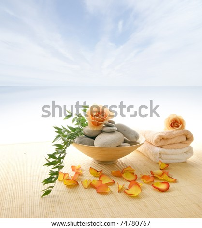 Health care background made of many still-life elements - stock photo