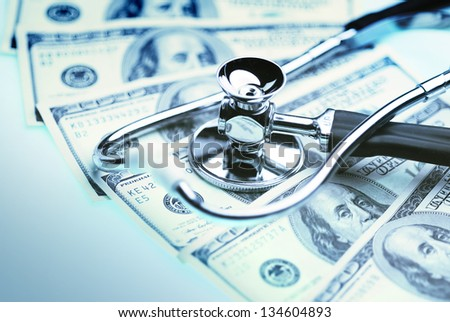 Health care cost - stock photo