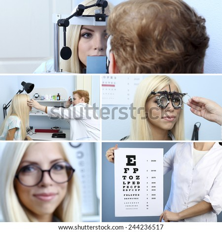 Health care, medicine and vision concept - stock photo