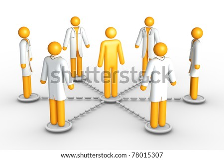 Health care network - stock photo