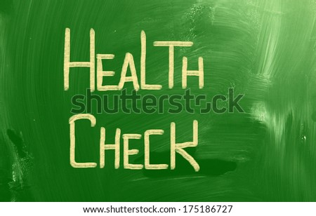 Health Check Concept - stock photo