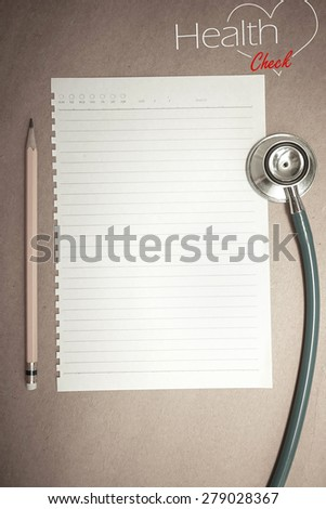 health check up concept and blank paper for background - stock photo