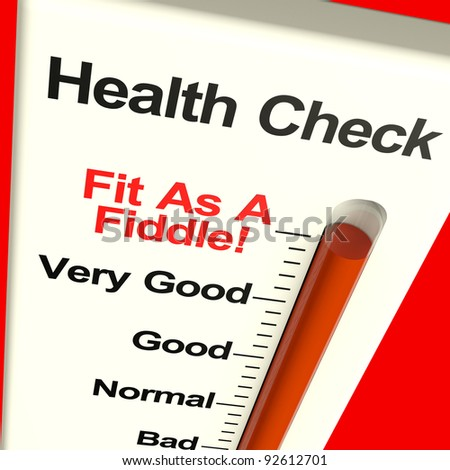 Health Check Very Fit Measured With A Big Gauge - stock photo