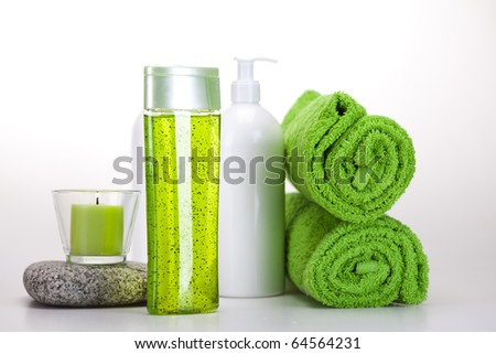 Health composition, spa - stock photo