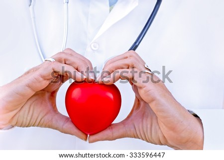 Health  concept - responsibility towards health, health in your hands - stock photo
