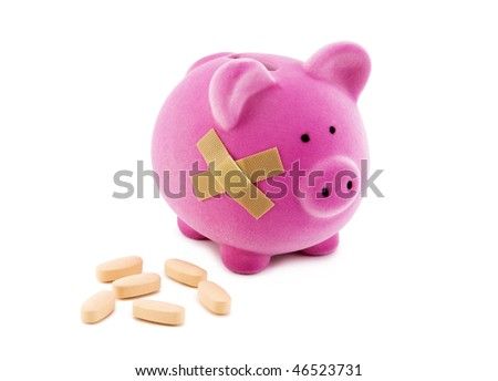 Health costs. Clipping path included. - stock photo
