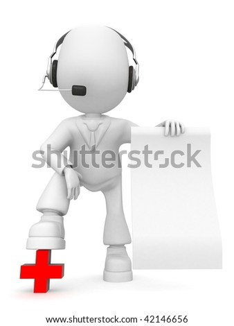 health information is written On slip of paper - stock photo