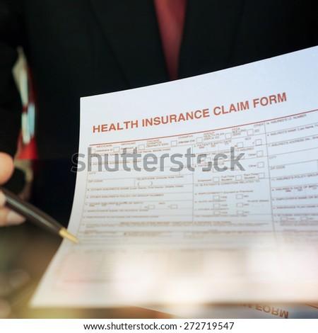 Health insurance application form  - stock photo