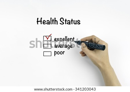Health Status - stock photo