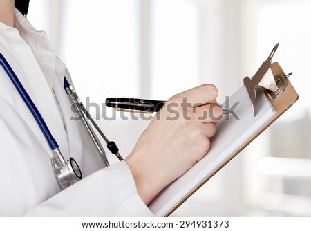 Healthcare And Medicine, Doctor, Medical Exam. - stock photo