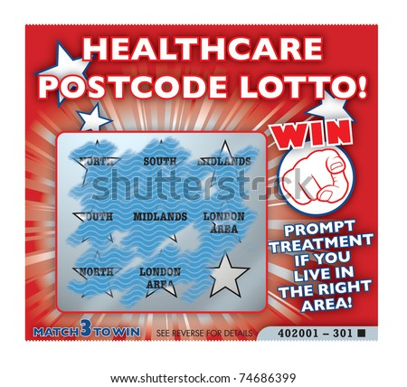 Healthcare and NHS treatment regional lottery - stock photo
