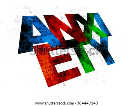 Healthcare concept: Anxiety on Digital background - stock photo