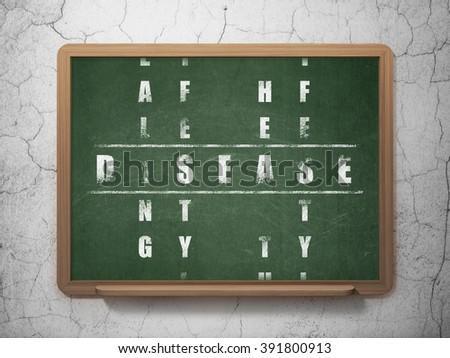 Healthcare concept: Disease in Crossword Puzzle - stock photo