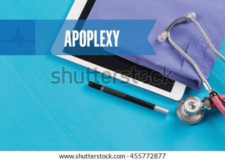 HEALTHCARE DOCTOR TECHNOLOGY  APOPLEXY CONCEPT - stock photo