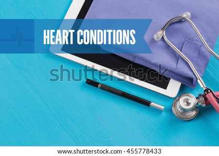 HEALTHCARE DOCTOR TECHNOLOGY  HEART CONDITIONS CONCEPT - stock photo