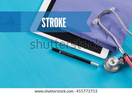 HEALTHCARE DOCTOR TECHNOLOGY  STROKE CONCEPT - stock photo