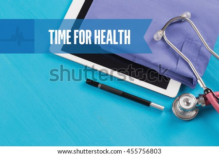 HEALTHCARE DOCTOR TECHNOLOGY  TIME FOR HEALTH CONCEPT - stock photo