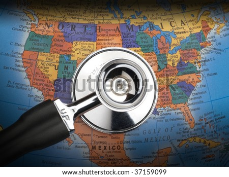 healthcare problems in the usa - stock photo