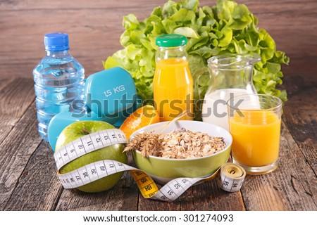 healthy breakfast,food - stock photo