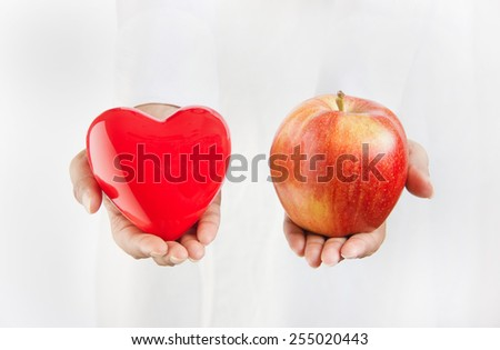 Healthy diet and nutrition for weight loss concept - stock photo