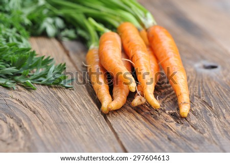 Healthy eating.Carrots. - stock photo