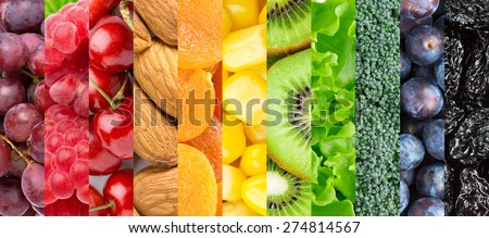 Healthy food background - stock photo