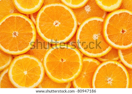 Healthy food, background.  Orange - stock photo