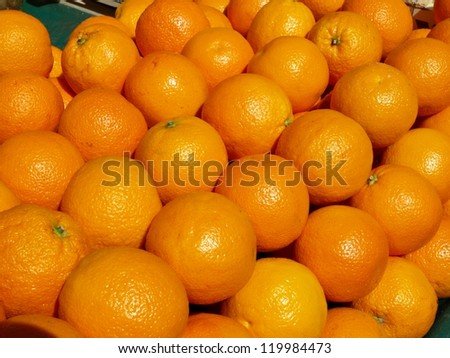 Healthy food, background resources: Orange - stock photo