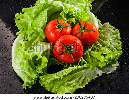 Healthy food, good snacks, fresh vegetable - stock photo