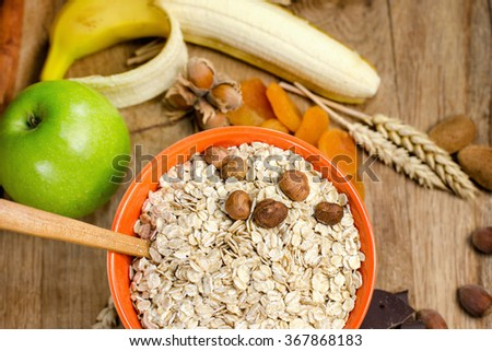 Healthy food - healthy meal - stock photo