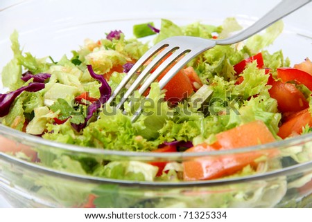 Healthy Fresh Salad  background - stock photo