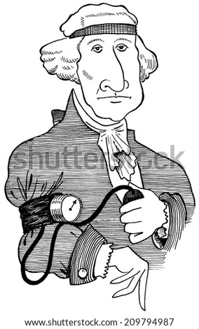 Healthy George Washington - stock photo