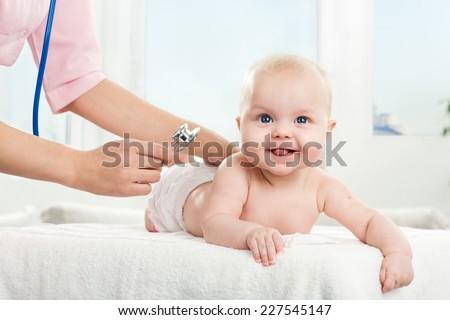 Healthy happy baby - stock photo