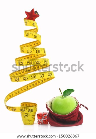 Healthy holiday food and diet  - stock photo