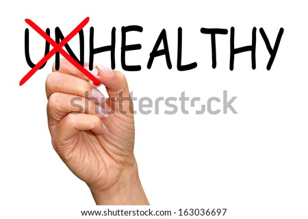 Healthy instead unhealthy - stock photo