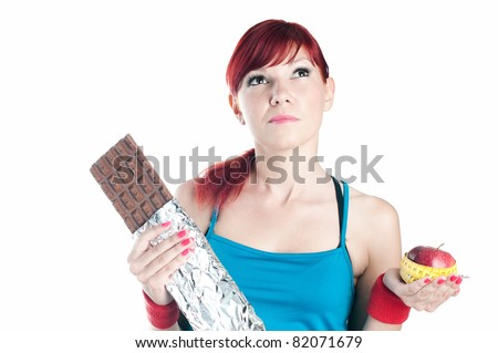 Healthy life-style. Making a choice - stock photo