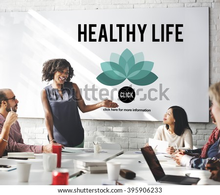 Healthy Life Vitality Physical Nutrition Personal Development Concept - stock photo