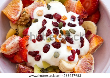 Healthy life with fresh food - stock photo