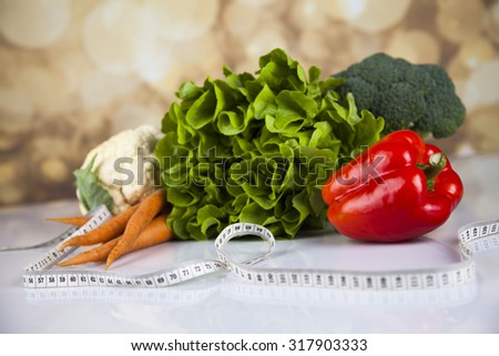 Healthy lifestyle concept, Diet and fitness - stock photo
