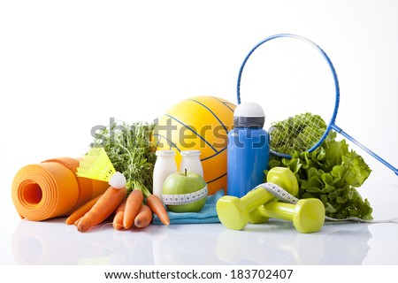 healthy living  and eatingconcept  - stock photo