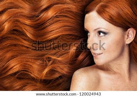 Healthy Long Hair - stock photo