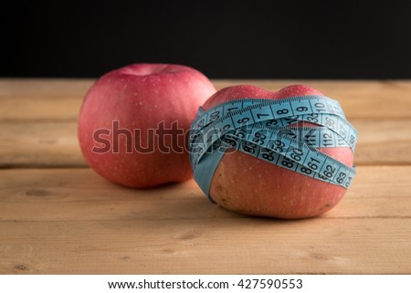 healthy nutrition, fruits, apples, diet, slimming - stock photo
