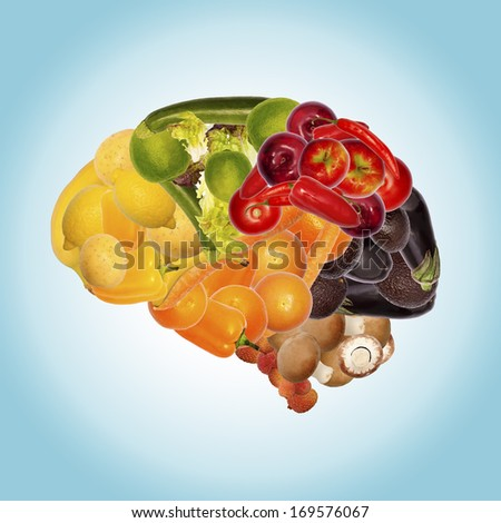 healthy nutrition is good for brain - stock photo