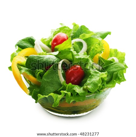 Healthy Salad over white - stock photo