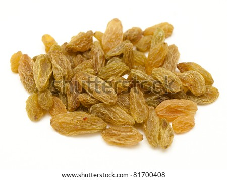 healthy snack - green raisins - stock photo