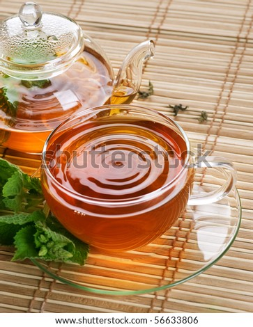 Healthy Tea with Mint - stock photo