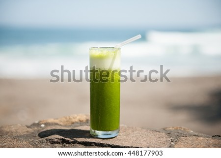 Healthy tropical drink, stock picture - stock photo