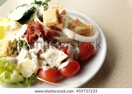 Healthy vegetable salads - stock photo