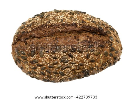 Healthy whole wheat Bread with Sunflower seeds - stock photo